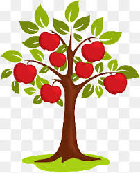 apple tree clip art png. vector cartoon apple tree, painted apple, q version of the tree clip art png i