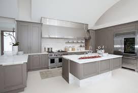 interesting interior design idea with grey kitchen cabinets also white countertop plus stove