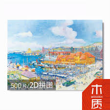 500pcs 2d common puzzles world famous landscape paintings leisure toy decorate puzzle