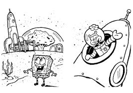 Disegno Di Spongebob Sulla Luna Da Colorare Disegni Da Colorare E