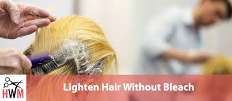 how to lighten hair without bleach