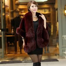 get ations 2016 new women s autumn and winter korean imitation fox fur shawl cape fur cape wool coat