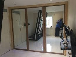 b q sliding wardrobe doors and surround and spacers