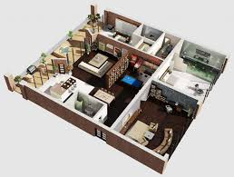 Creative Small Studio Apartment Floor Plans And Designs - Studio apartment floor plans 3d