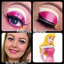 princess aurora eye makeup made by glitterc