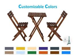 set wooden folding table and chair set