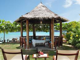 for casual light lunches smaller groups may opt for healthy lunches in the thatched gazebo
