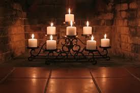fireplace log candle holder