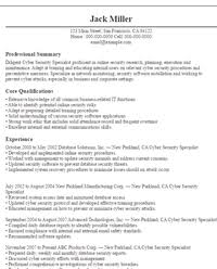 ... Cyber Security Resume by It Resumes Sle Resumes Livecareer ...