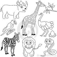 Small Picture African Animals Coloring BookAnimalsPrintable Coloring Pages