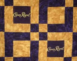 Crown royal quilt | Etsy & Lap Sized Crown Royal Quilt Made from Your Bags Adamdwight.com