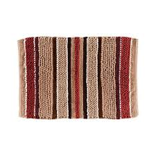 saay knight madison stripe 20 in x 30 in cotton bath rug in red