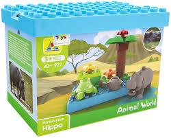Гиппопотам <b>Animal</b> World, <b>конструктор</b> из 16 деталей — купить в ...