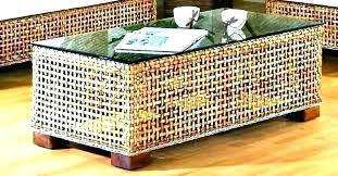 wicker coffee tables round rattan table square south sea small white end lamp breakfast set round wicker end table