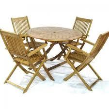 round wooden garden table and 4 chairs royalcraft manhattan round folding table 4 manhattan folding rh jacksgarden com