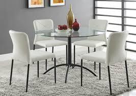 clear glass furniture. Café-Mk2 5pce Dining Setting With CF137 Chair Clear Glass Furniture