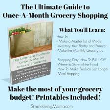 Make A Master List Of Meals Monthly Meal Planning Simple Living Mama