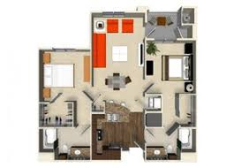 2 Bedroom 2 Bathroom Apartment B1 Floor Plan At The Verdant Apartments In San  Jose,
