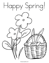 Spring Coloring Pages For Toddlers Kindergarten 655455 Myscres