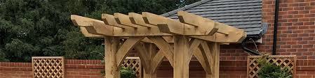 solid oak garden arches oak timber