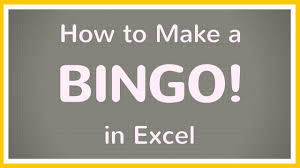 Excel Bingo Template How To Create A Bingo Board Using Excel Make Bingo Game In Excel