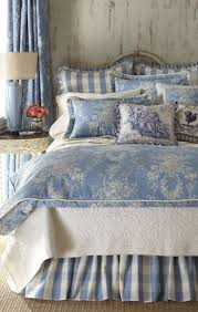 french blue toile bedding.  French Sherry Kline Home Country Manor Toile Comforter Set To French Blue Bedding I