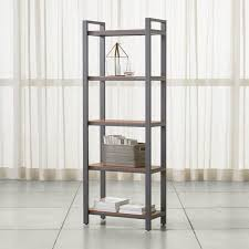 Glass shelves bookcase Crate Pilsen Graphite Bookcase With Walnut Shelves Cymax Bookcases Wood Metal And Glass Crate And Barrel
