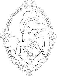 Cinrella Coloring Pages Princess Coloring Pages Disney Cinderella