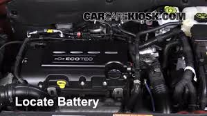 how to jumpstart a 2011 2016 chevrolet cruze 2011 chevrolet cruze 2013 chevrolet cruze lt 1 4l 4 cyl turbo battery clean battery terminals