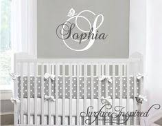 Small Picture Baby Name Wall Decal Nursery wall decor Baby Monogram