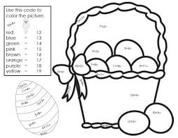 Easter Math Coloring Pages At Getdrawingscom Free For Personal