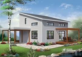 Small house plans  amp  Affordable house plans from DrummondHousePlans    NOYO Affordable Small Modern Cottage  large covered deck  open floor plan  lots of
