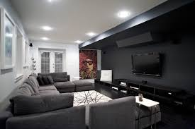 lighting ideas ceiling basement media room. Media Room Ideas Decorating Home Theater Contemporary With Recessed Lighting Black Floors Ceiling Basement