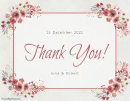 Free Card Templates Create Free Thank You Greeting Cards Postermywall