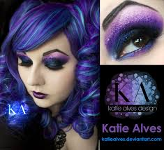 ursula makeup tutorial heather traska purple curls by katiealves
