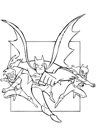 Superheroes Batman Robin And Batgirl Coloring Pages