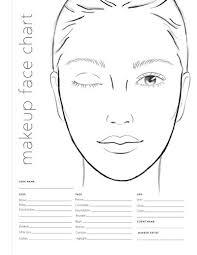Free Printable Face Charts For Makeup Artists Makeup Artist Drawing At Getdrawings Com Free For Personal