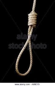 Rope Hang Man's Noose - Stock Image