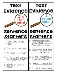 best sentence starters ideas what are reading  a text evidence lesson by crafting connections