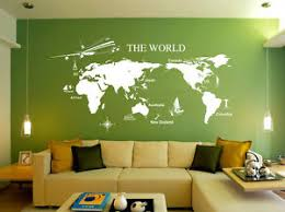 image is loading huge world map wall art quote wall stickers  on map wall art uk with huge world map wall art quote wall stickers home decals uk 168 ebay