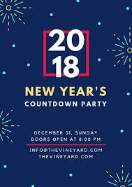 countdown templates new years countdown party holiday poster templates by canva