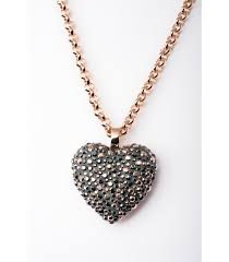 crystal heart pendant with chain extra large dorne boutique