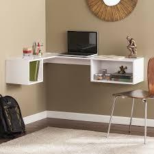 White Small Corner Computer Desk Color