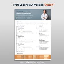 Profi Lebenslauf Vorlage Anton Download F R Erfolgreiche