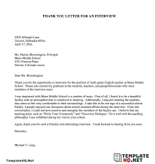 you letter after interview