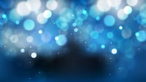 Abstract Blue Black And White Blurry Lights Background