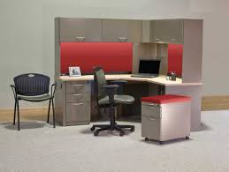 red and grey nuance of the chair computer desk for kids can be applied for modern affordable minimalist study room design