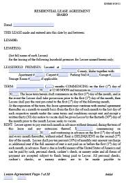 Landlord Lease Agreement Tempalte