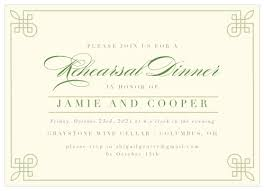 Dinner Invation Rehearsal Dinner Invitations Match Your Color Style Free