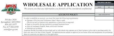 Wholesale Credit Application Credit Application Template Excel Form And Free Business